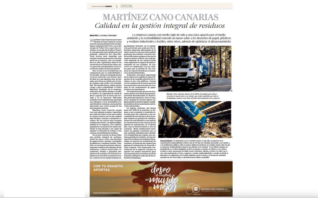 MARTÍNEZ CANO elaborada en Canarias